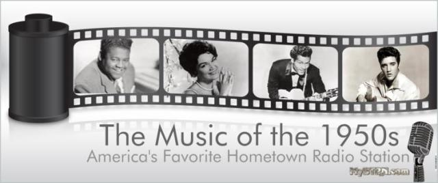 1950s music banner